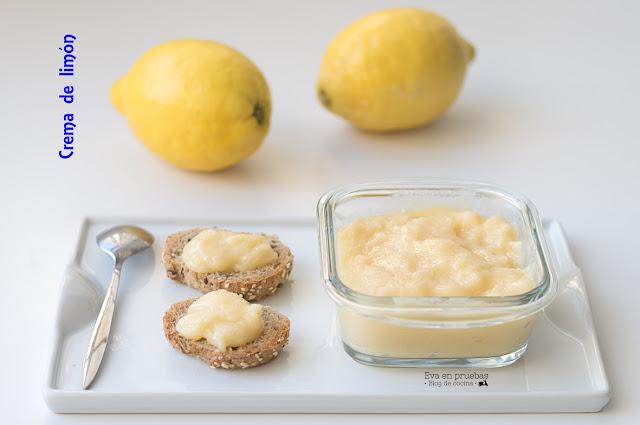 Crema de limón con miel