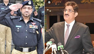 Sindh government and police officers confrontation