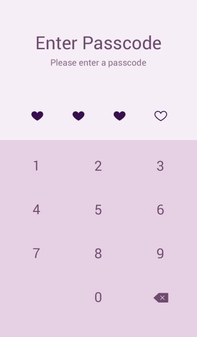 キラキラハート(紫)