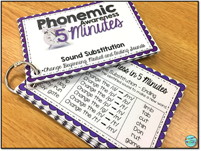 Phonemic awareness word lists mean you can teach phonemic awareness on the fly.  Grab the list and you are ready with words in your hand.
