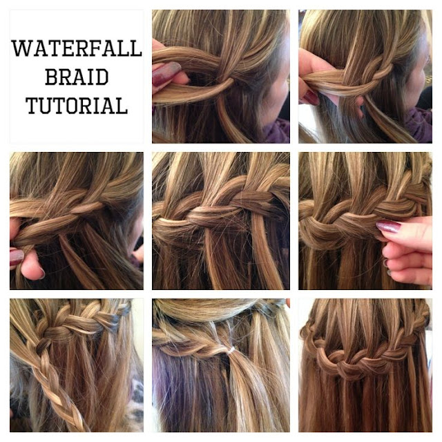 tutorial treccia a cascata waterfall braid tutorial hairstyle tendenze capelli acconciature capelli lunghi