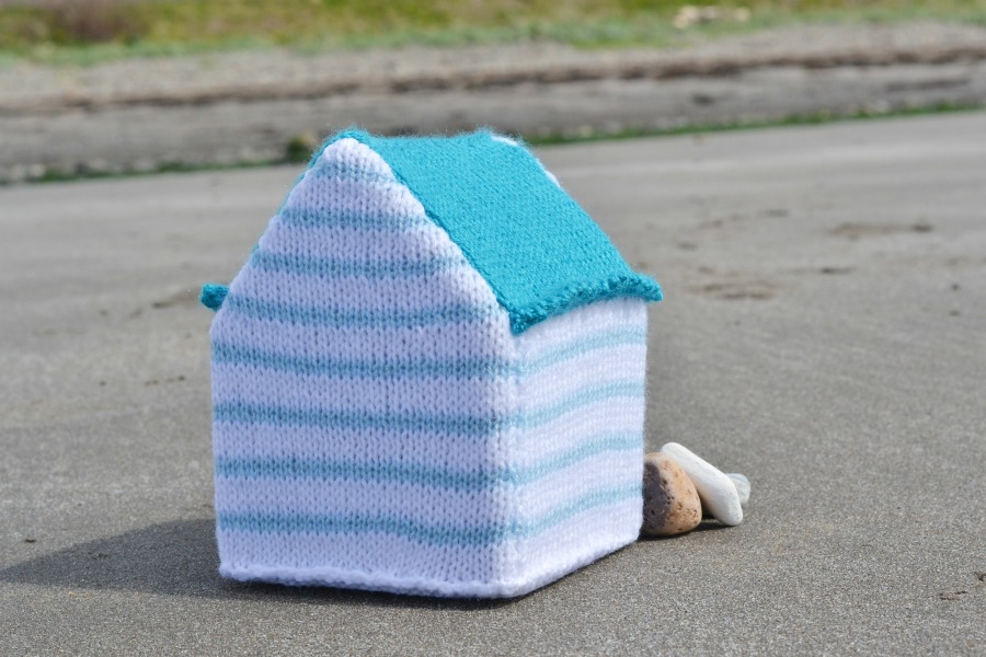 back beach hut stripes knitting amanda berry fluff and fuzz yarn along beach photos scotland