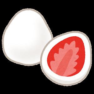 イチゴのホワイトチョコレートがけのイラスト