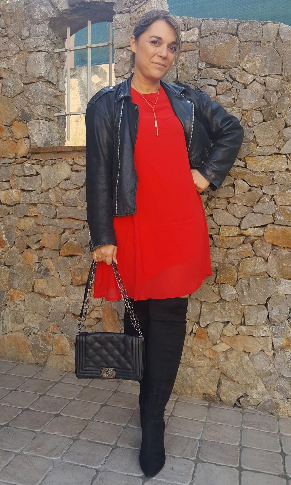 Robe rouge jour de l'an