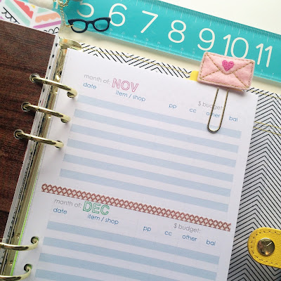 free A5 budget printable | Julie K | @plan2create