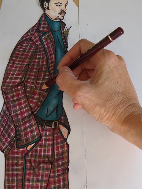 El pintado a rotulador y pintura