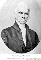 Photograph inscribed 'Yours Truly, John Early.' Frontspiece, Memorials of Methodism in Virginia, 1772-1829, by William Wallace Bennett (1871).  Retrieved 2021 from Library of Congress.