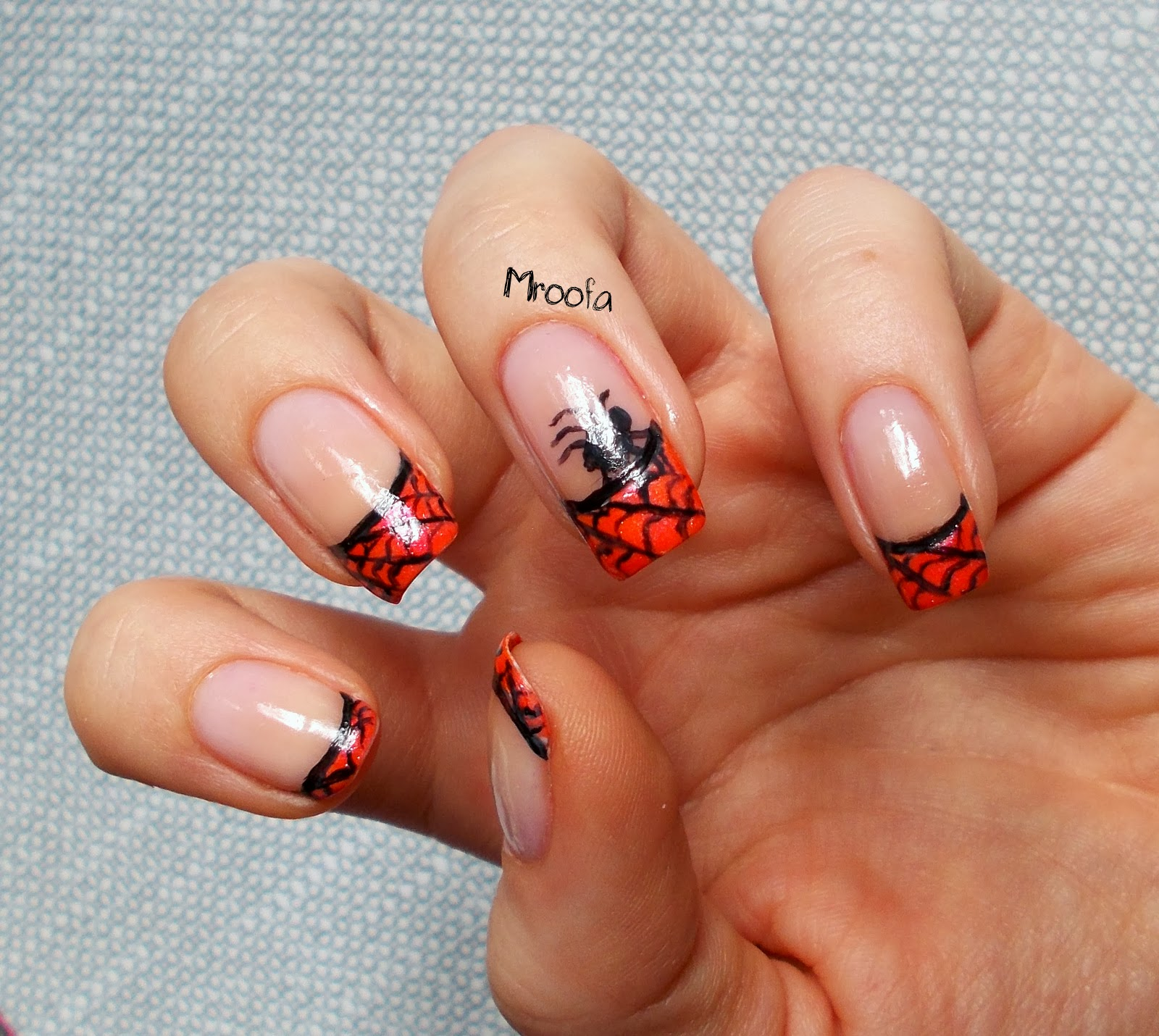 Halloween French Manicure - Mroofa