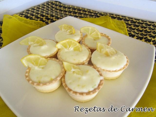 Mini tartaletas de crema de limequats
