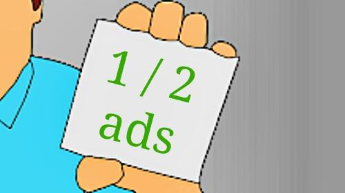 Alasan Hanya Memasang Satu / Dua Banner Iklan Adsense di Blog