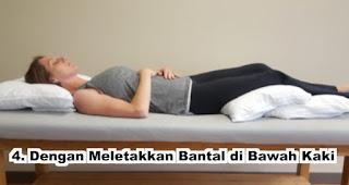 Sifat orang yang tidur dengan Meletakkan Bantal di Bawah Kaki