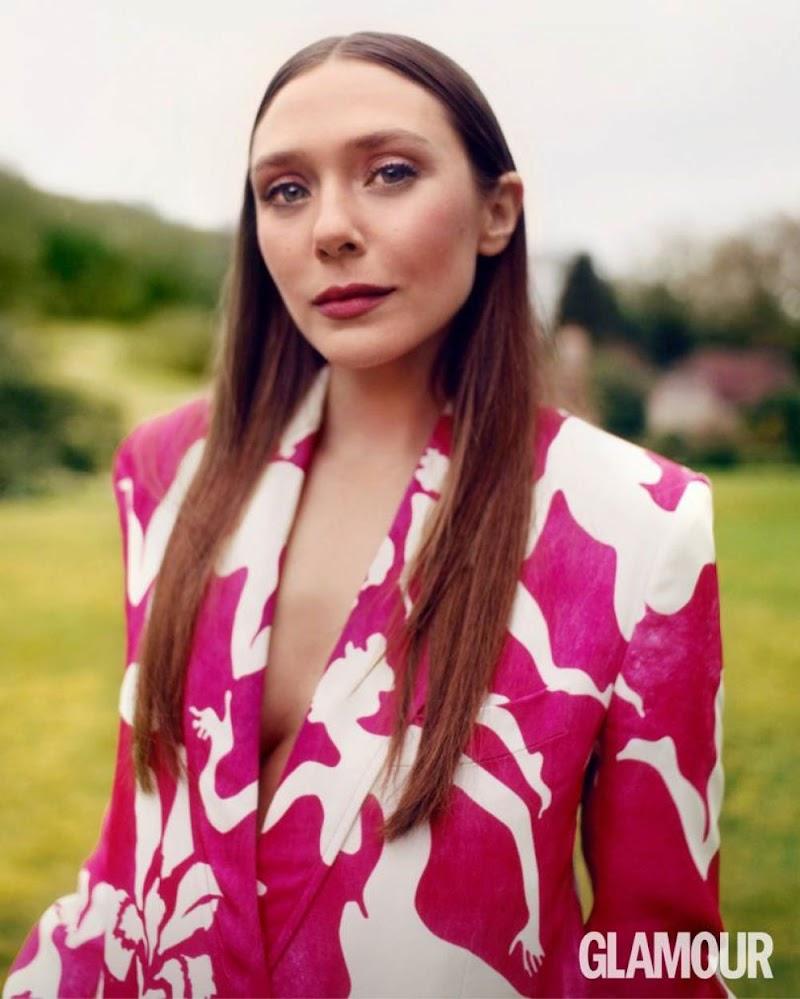 Elizabeth Olsen Featured in Glamour Magazine - UK April 2021