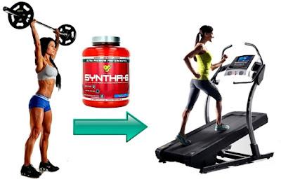 Las mujeres también deben tomar su batido de proteínas después de pesas y antes de cardio