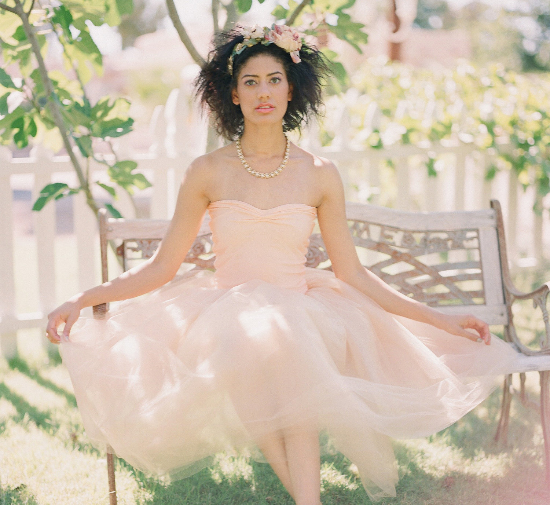 Unique Wedding Dresses: Low Back Wedding Dresses: Peach Wedding Dresses Are Like