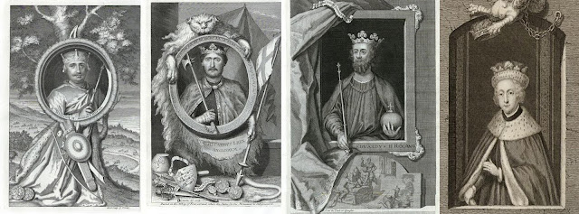 The possibly murdered monarchs. From left to right King William II, King Richard I, King Edward II and King Edward V. All images courtesy of ancestryimages.com