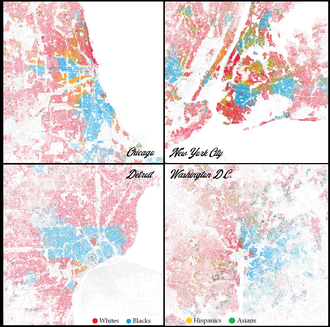 fischer s racial dot maps all cities available at link