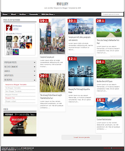 MXfluity Responsive Blogger Template (Left Sidebar)
