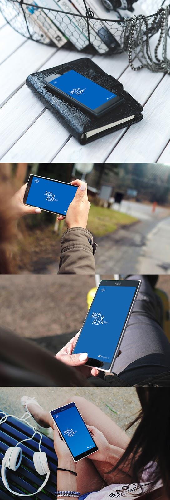 Smartphone & Tablet Mockup PSD Terbaru Gratis - Nokia Lumia PSD Mockup