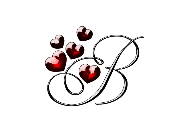حرف B رومنسي
