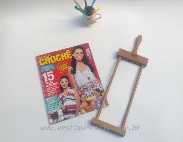 revista receitas crochê grampo