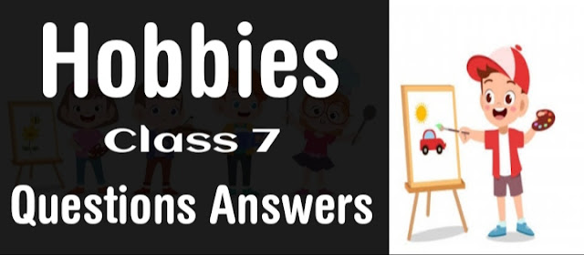 Hobbies English for class 7 Questions Answers