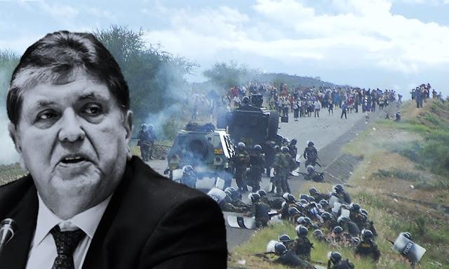 Alan García uno de los principales responsables del caso Baguazo
