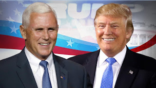 GOP presidential nominee Donald Trump and his running mate, Indiana Gov. Mike Pence