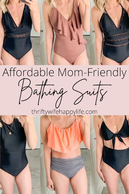 Affordable Mom-Friendly Bathing Suits on Amazon