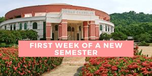 First Week Of A New Semester