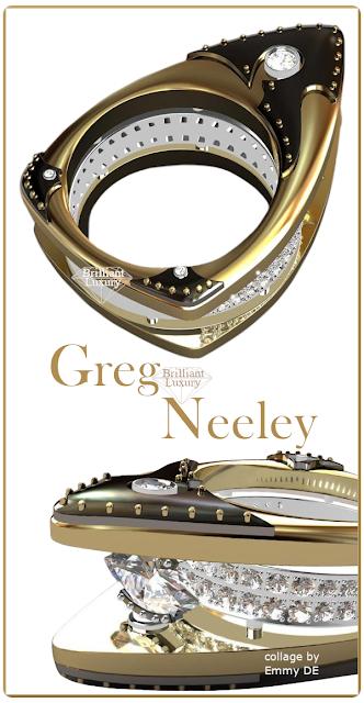 Greg Neeley Floating Marquis Black Night Ladies Diamond Ring #brilliantluxury