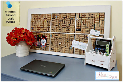 Corkboard using Old Windows #corkboard #winecorks #oldwindows #vintagewindows #decorating #windows #decor