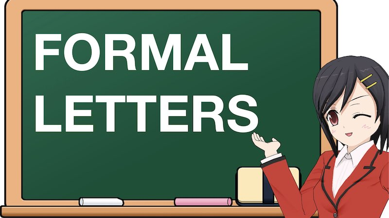 SCHOOL SECTION FORMAL LETTERS