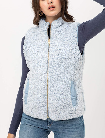 Reversible Faux Fur Vest For Women