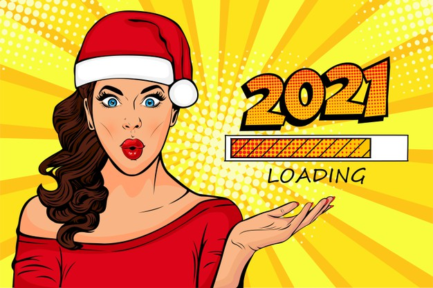 50+ Happy New Year 2021 Design Concepts and Wishes for Social Media