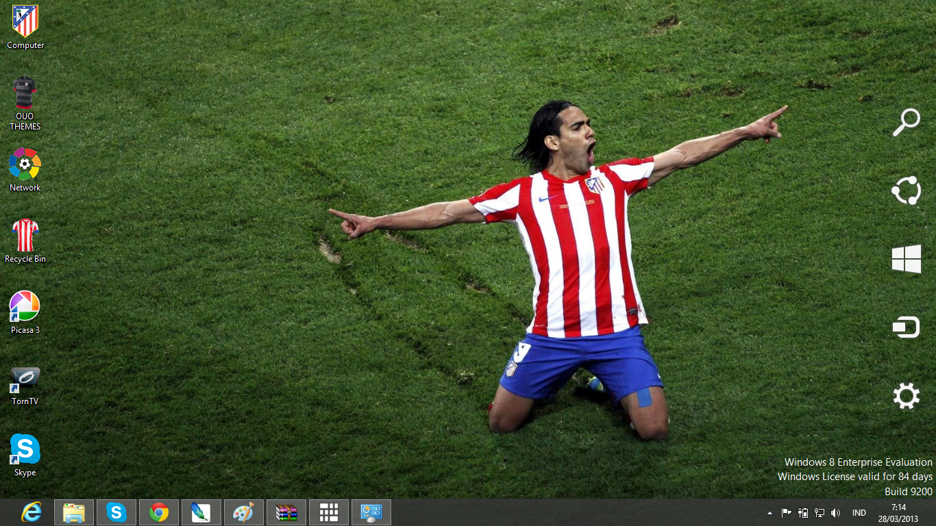 Download Gratis Tema Windows 7: Atletico Madrid Fc