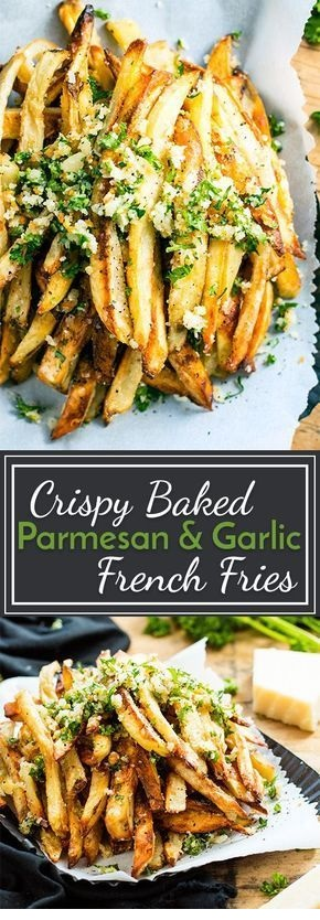 Crispy Baked Parmesan Garlic Fries