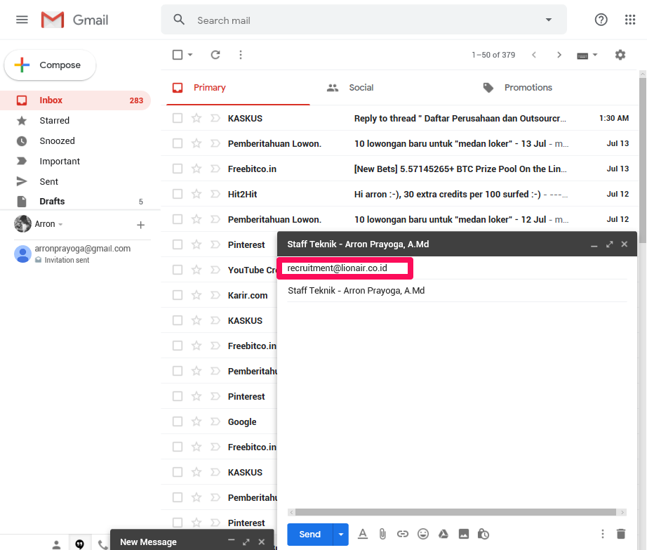 Cara Mengirim Lamaran Lewat Email Pasti Berhasil 2019
