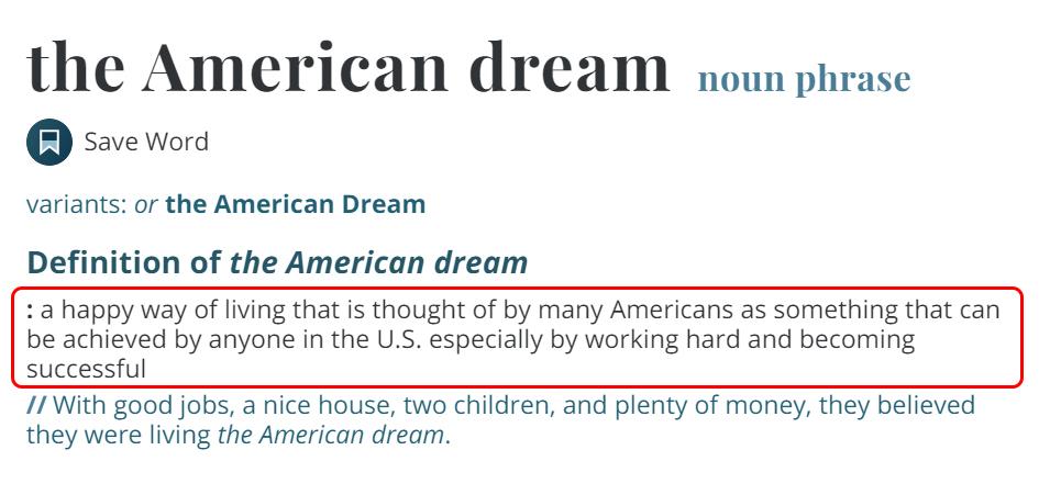 Penjelasan American Dream