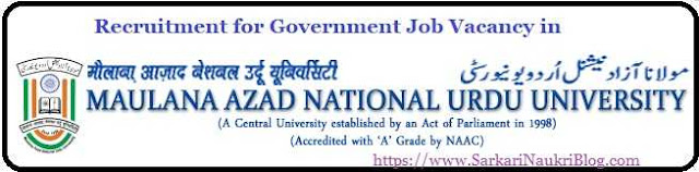 MANUU Hyderabad Sarkari Naukri Vacancy