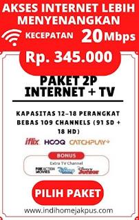 paket indihome jakarta pusat, paket indihome 2P TV 20mbps
