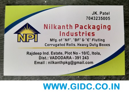 NILKANTH PACKAGING INDUSTRIES - 7043235005