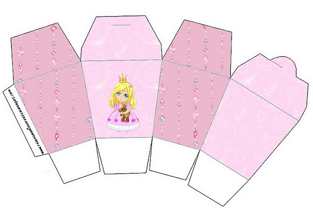 Blondie Princess, Free Printable Chinese Take Away Box.