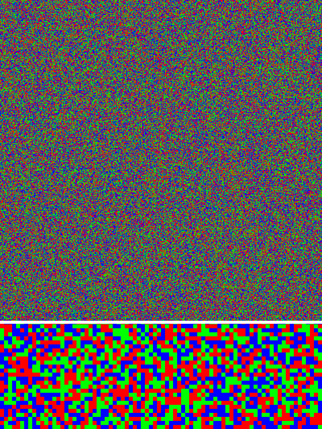 262,144 random red, green and blue squares texture