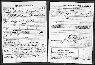 Climbing My Family Tree: U.S. Draft Registration for Philip Aaron Snyder