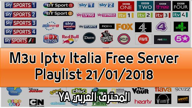 M3u Iptv Italia Free Server Playlist 21/01/2018