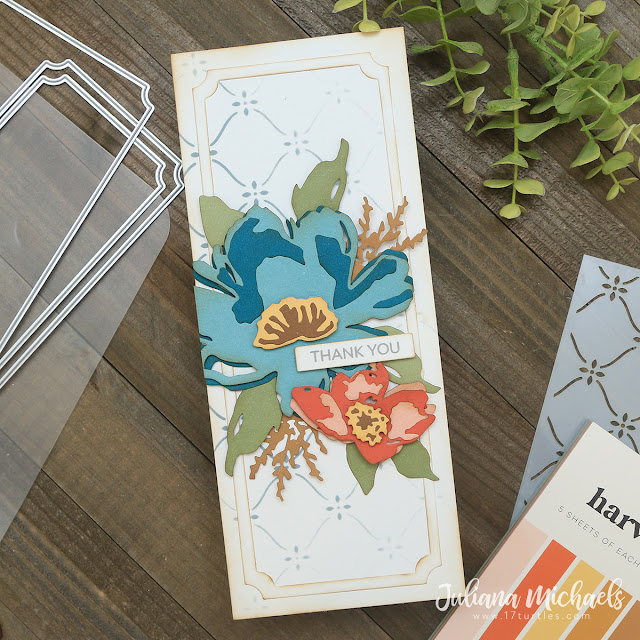 Thank You Card by Juliana Michaels - Slimline Cards Made Easy with Scrapbook.com Stencils, Paper Pads and Dies