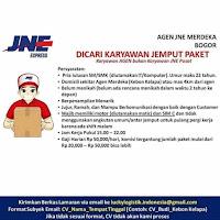 Lowongan kerja JNE Bogor Terbaru 2021
