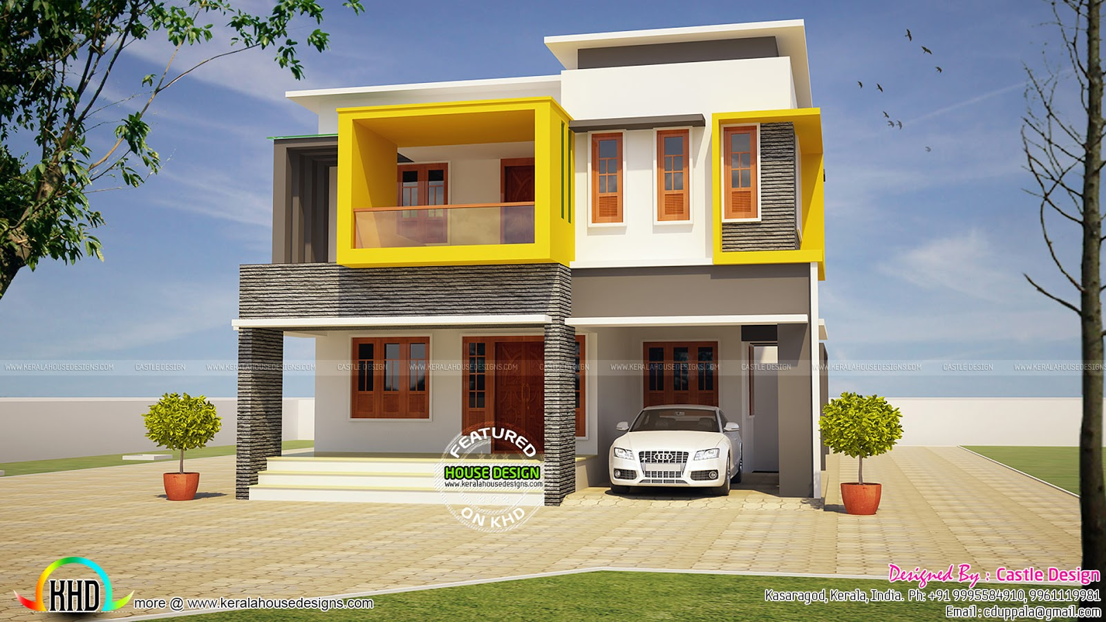 Modern house architecture by castle design kerala home for Castle architecture design