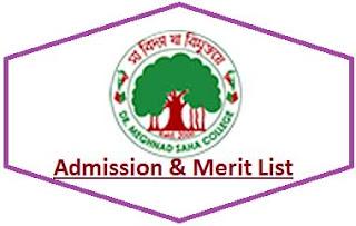 DRMS College Merit List