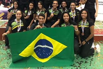 Seleção Brasileira de badminton conquista o bronze no Pan por equipes